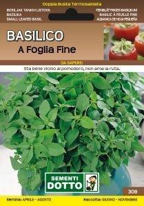 Basilico a Foglia Fine
