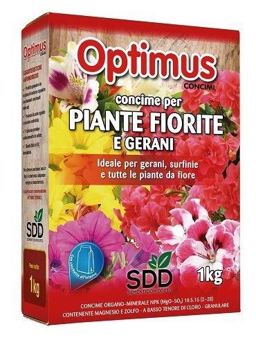 Concime granulare per gerani e piante fiorite
